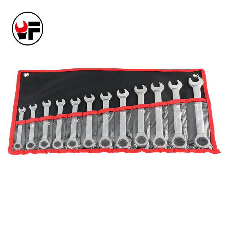 12pc the key ratchet spanners combination wrenches set of auto repair hand tool for cars kit   D6105