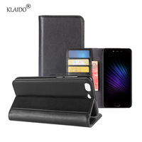 KLAIDO Genuine Leather Mobile Phone Case For Leegoo T5 Case Slot Wallet Flip Leather Magnetic Protective