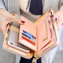 Роскошные женщины кошелек телефон сумка кожаный чехол для iPhone 7 6 6 S плюс 5S 5 Samsung Galaxy S7 край S6 J5 Xiaomi Mi5 Redmi 3 S Note 3 4