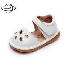 YAUAMDB/ г. Летние кожаные сандалии для малышей Обувь для новорожденных девочек дышащая однотонная обувь принцессы для младенцев ly41