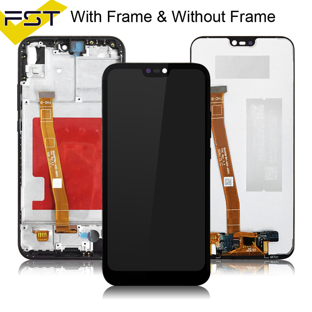 For Huawei P20 Lite LCD Display+Touch Screen Digitizer Assembly With Frame  Replacement for Huawei Nova 3E ANE LX1 LX3 L23 L03