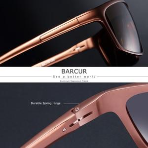 Image 3 - BARCUR Aluminum Polarized Sunglasses for Men Eyewear Accessories Men Blue Mirror Sun Glasses Luxury Goggle