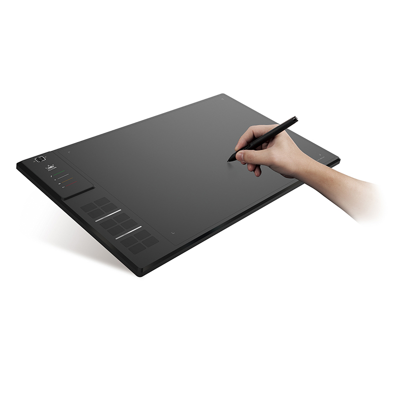Huion GIANO WH1409 de 14 pulgadas de los niveles de 8192 inalámbrico dibujo tableta Digital tabletas gráficas de la pluma de la tableta para Windows y MAC OS
