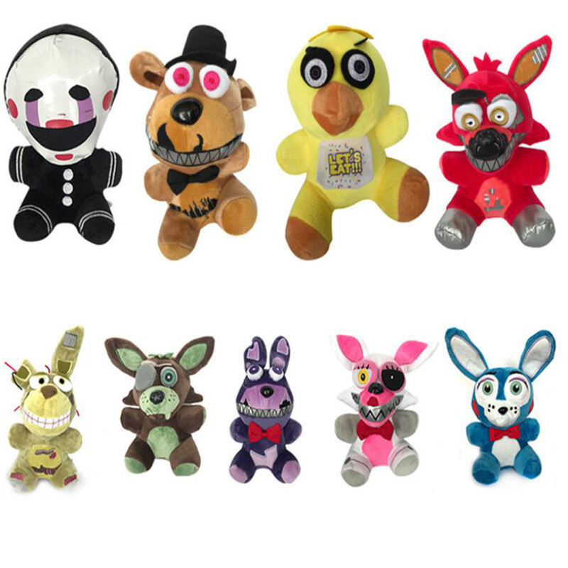 Toys & Hobbies Stuffed & Plush Animals 17-25cm New Arrival Five Nights At Freddys Fnaf Plush Toys Golden Freddy Foxy Bonnie Chica Soft Stuffed Animals Doll Kid Gift Perfect In Workmanship