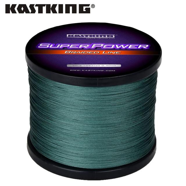 KastKing Superpower سلسلة 1000 متر صنارة صيد بولي ايثيلين مجدول 10 15 20 25 30 40 80LB متعددة خيوط جديلة خط لصيد المياه المالحة