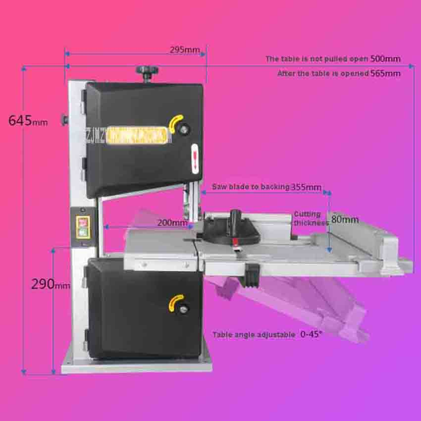 D9S 9 Inch Woodworking Band-Sawing Machine Wood Cutting Saw