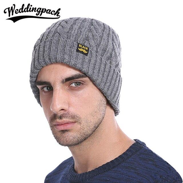 2419535ccf9 Winter Warm Women Velvet Beanie Casual Solid Knitting Men Skullies Thick  Crochet Slouchy Hat Curling Designer Mens Beanie Hat