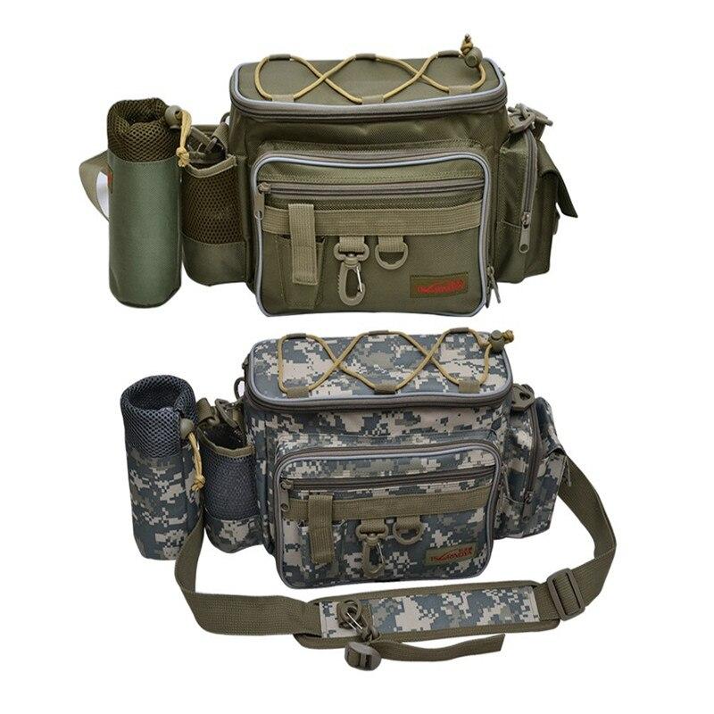 Prix pour En plein air Sac de Leurre De Pêche Sac Multifonctionnel Camouflage Taille Messenger Sac Sac À Main D'épaule Sac De Pêche Pack