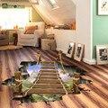 Creative 3D Плавучий Мост Прикреплены Детская Спальня Гостиная Декоративные Настенные Наклейки Съемный Окружающей