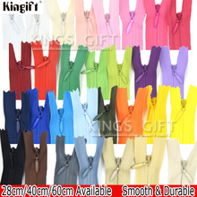 3# 20pcs Close-end Invisible Zipper For Cushion, Dress, DIY Sewing Creative Lace Zippers For Sewing Kits Accessories