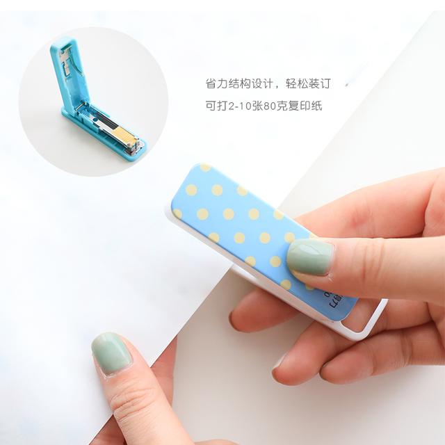 deli 0450 Compact Labor-saving Stapler Mini Binder Cute Stapler Paper Stapler Office And School Supplies Mini Stationery Set