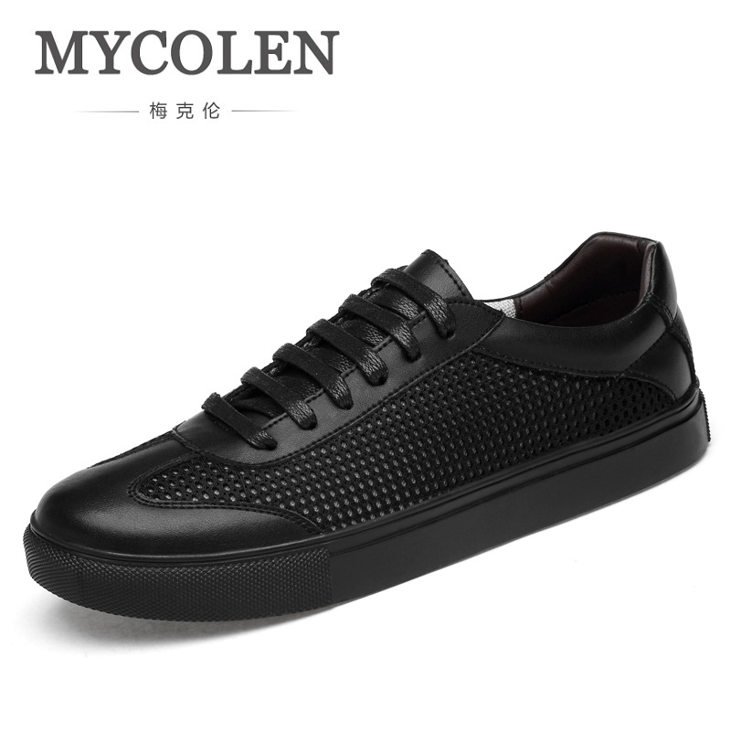 все цены на MYCOLEN New 2018 Spring Summer Canvas Shoes Men Lace-Up Mesh Casual Shoes Male Brand Fashion Sneakers Flats Shoes Sapatenis онлайн