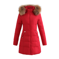 2017 Winter Jacket Women Cotton Padded Hooded Parkas Artificial Fur Collar Solid Color Ladies Wadded Coat