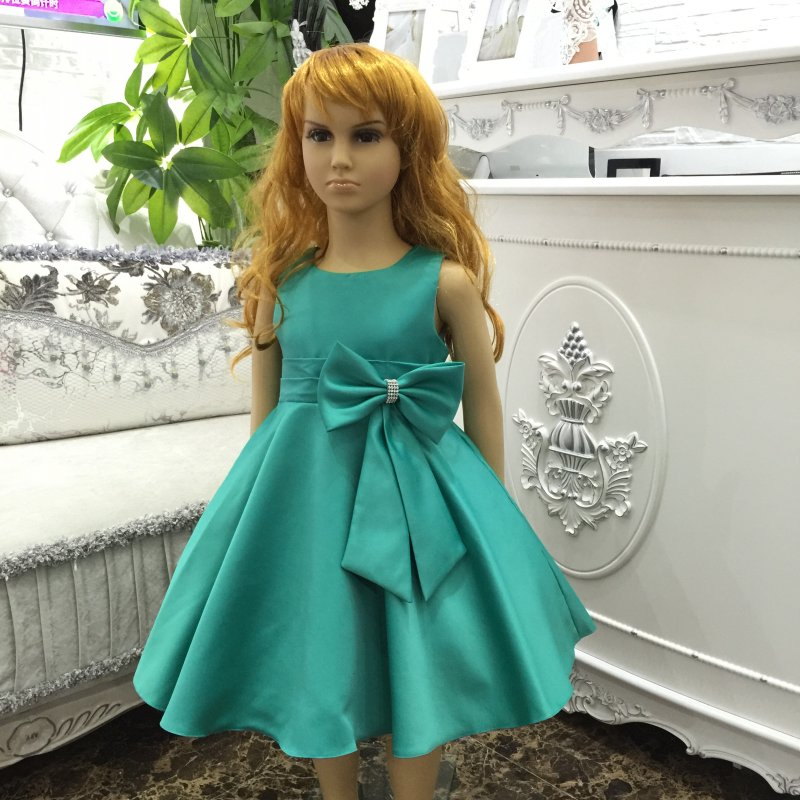 Glamour Factory wholesale Dress Party Girl 2-10 Years 2016 New Girl Dress with Bow Children Formal Evening Gown Plus size 2199