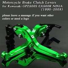 Motorbike Levers Motorcycle Brake Clutch Foldable Extendable For Kawasaki GPZ500S GPZ 500S EX500R EX 500R NINJA 1990-2009
