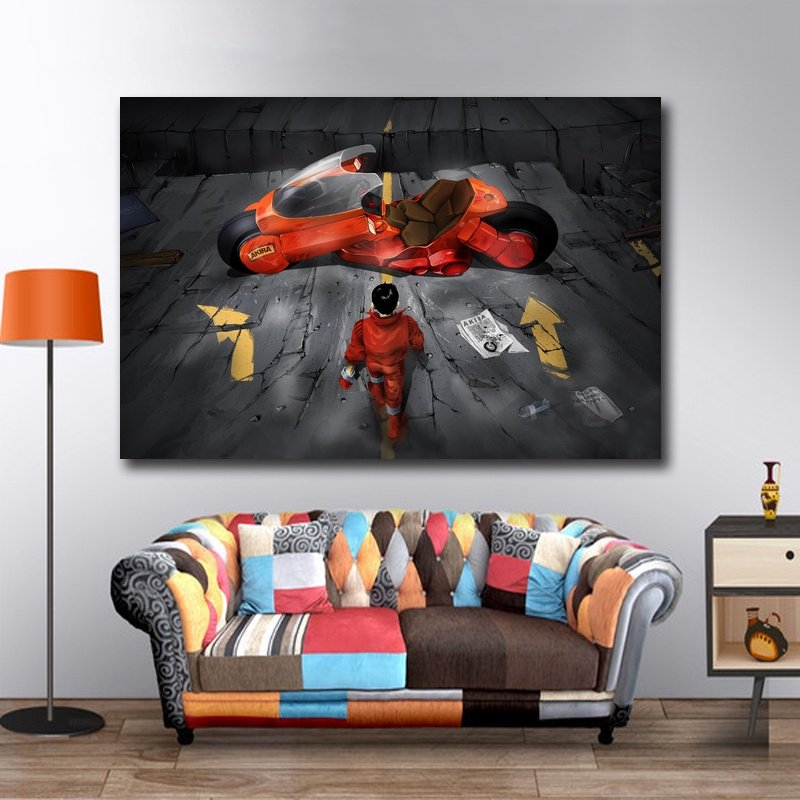 online shop akira red fighting anime movie art silk poster print