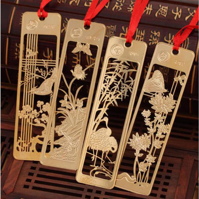 New Creative Kawaii Beautiful Chinese Style Vintage Exquisite Metal Bookmarks Children Student Gift Stationery Office Supplies