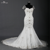 RSW765 Silver Embroidery Designs For Wedding Dress With Sleeves