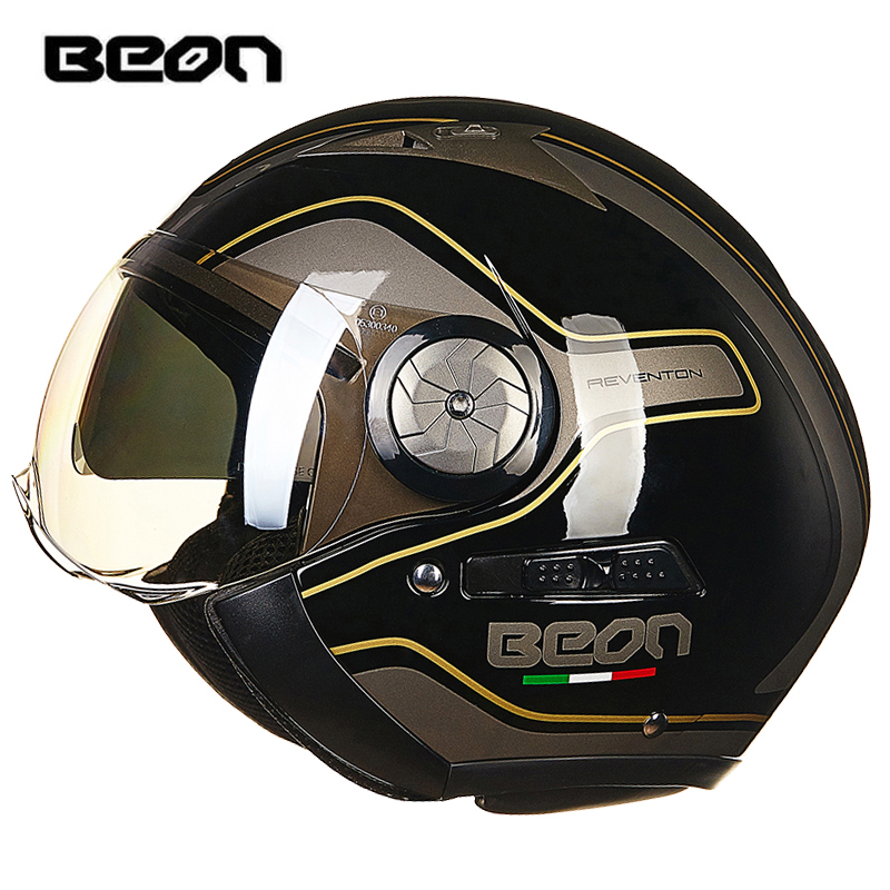 Здесь продается  BEON Fashion Motorcycle Helmet Retro Harley Helmet Double Lens Harley Helmet Falf Helmet Headgear High Quality Visor Protection  Автомобили и Мотоциклы