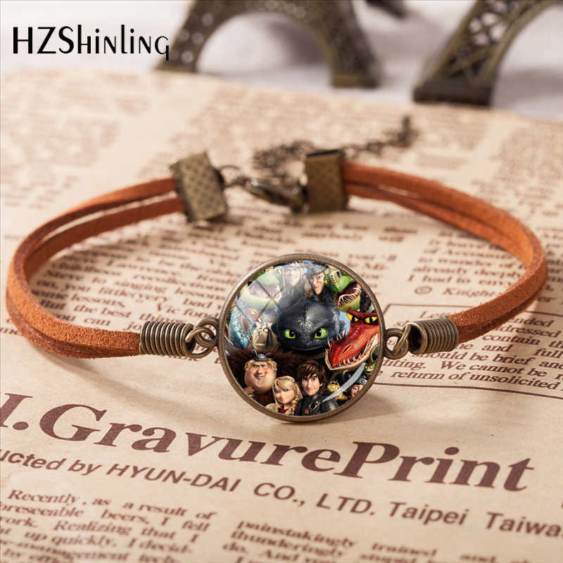 New Arrival How to Train Your Dragon Anime Leather Bracelet For Women Men Gift Manufacturer Wholesale Fashion Style Bangle