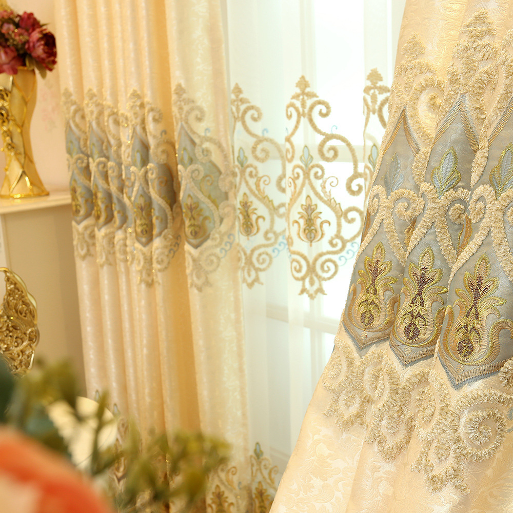 Image 4 - European style shading embroidery, living room, bedroom curtain villa, Rome curtain, rolling, buckle, vertical,butterfly curtain-in Storage Bags from Home & Garden