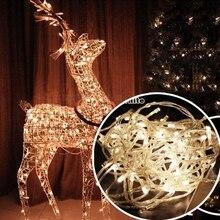 Уличный струнный светильник s 8 Режим 6 м 10 м светодиодная гирлянда Сказочный светильник Рождественский светильник декоративный светильник для праздника, свадьбы, вечеринки s