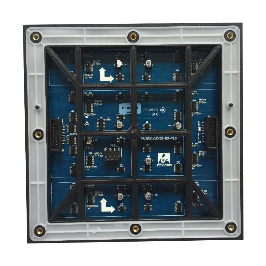 Impermeabile P6 Modulo 192*192 millimetri 6 millimetri SMD3535 1/8 S Pixel 32*32 Completo Esterno colore display A LED del Pannello Dello SchermoImpermeabile P6 Modulo 192*192 millimetri 6 millimetri SMD3535 1/8 S Pixel 32*32 Completo Esterno colore display A LED del Pannello Dello Schermo