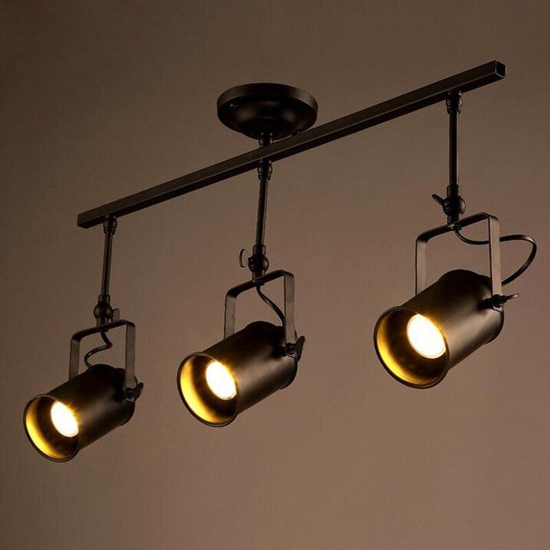 Us 30 66 16 Off Ceiling Lights Spot Light Track Led Wall Lamp Loft Rh American Retro Black Lighting Sconce Zxd0019 In