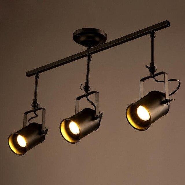 Plafonniers Spot Piste Lumiere Led Mur Lampe Loft Rh Americain