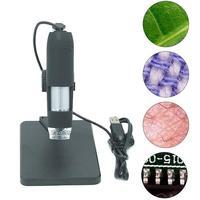 2MP USB 1000X 8LED Digital Microscope Magnifier Camera Lift Stand Measurement
