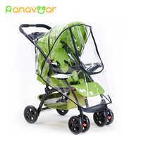 Ranavoar acessórios de carrinho de bebê universal à prova dwaterproof água capa chuva vento poeira escudo zíper aberto para carrinhos bebê