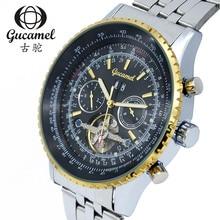 Мода Автоматические Механические Часы Человек Gucamel Фотохромные Стекла Мужские Наручные Часы Подарок relogio masculino GC034