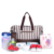 6 unid/set Rayó Cambio de Pañales Bolsas de Gran Capacidad Multifuncional Bolso de La Momia Bolsa de Pañales de Bebé con Cochecito Klips