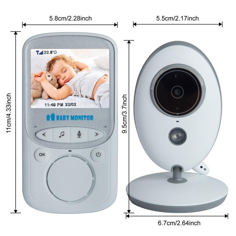 2.4 Inç Renkli LCD Kablosuz Dijital Ses Video Güvenlik Bebek Uyku - Bebek Güvenliği - Fotoğraf 2