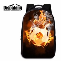 Dispalang Men Large Capacity Laptop Backpack Shoulders Bag For 14 Inch Laptopbags Ball Pattern School Bags