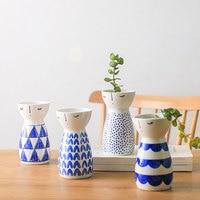 Сонный кукла Вазы Керамика ручная роспись настольная ваза украшения дома ваза современная мода Вазы в японском стиле низкая Bone