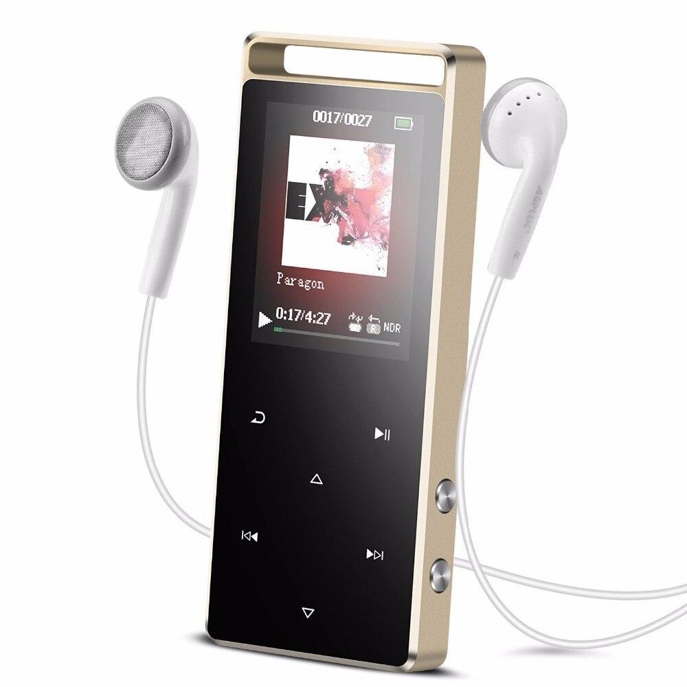 Lecteur de musique Original RUIZU D01 lecteur MP3 8 GB bouton tactile lecteur MP3 numérique Portable avec fonction d'enregistrement vocal Radio FM