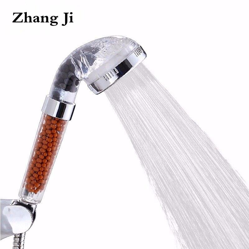 ZhangJi Heißer SPA Gesunde Dusche Kopf Wasser Saving Hochdruck Transparent Dusche Kopf Wasser Filter Niederschläge Handheld Düse