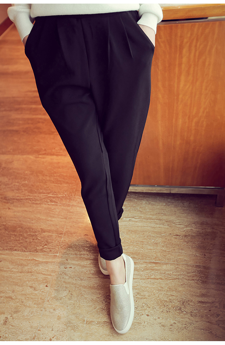 993a594bcbf1 PAROLLADA Women Summer Casual Pants Elastic Band Roll Up Ankle Length Pants  Trousers S 3XL-in Pants   Capris from Women s Clothing on Aliexpress.com ...