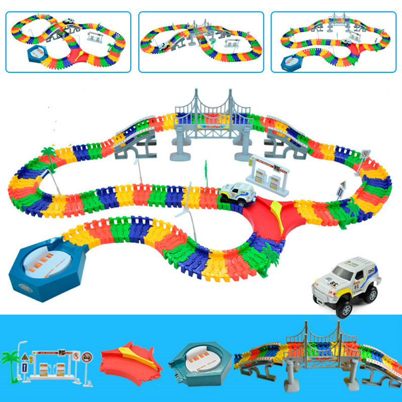 5.5cm Magic Rail Car Toy Racing Tracks Car DIY Universal Accessories For Magic Track Educational Toys Children's Birthday Gifts