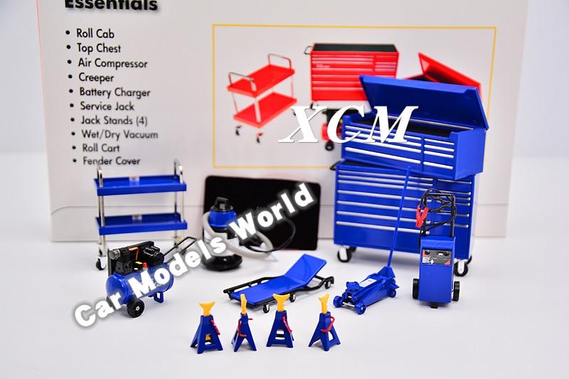 モデルスケールミニチュアガレージ必需品キット 1:18 (ブルー) + 小ギフト!!!  グループ上の おもちゃ & ホビー からの ダイキャスト & 車のオモチャ の中 1