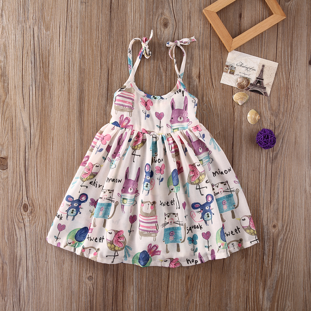 Cute 1 6y Baby Girl Clothes Toddler Kids Tank Dress Slip Dress