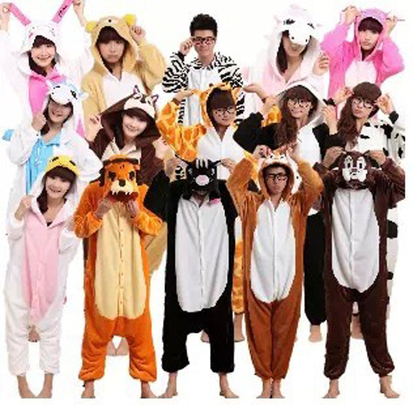 Online Shop adult animal footed pajamas couple Stitch cartoon ...