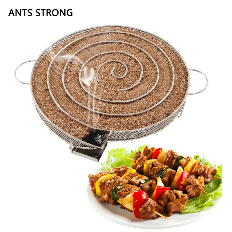 ANTS STRONG Roast meat cold smoke generator/stainless steel can be stored spices roaster racks outdoor BBQ cooking tool