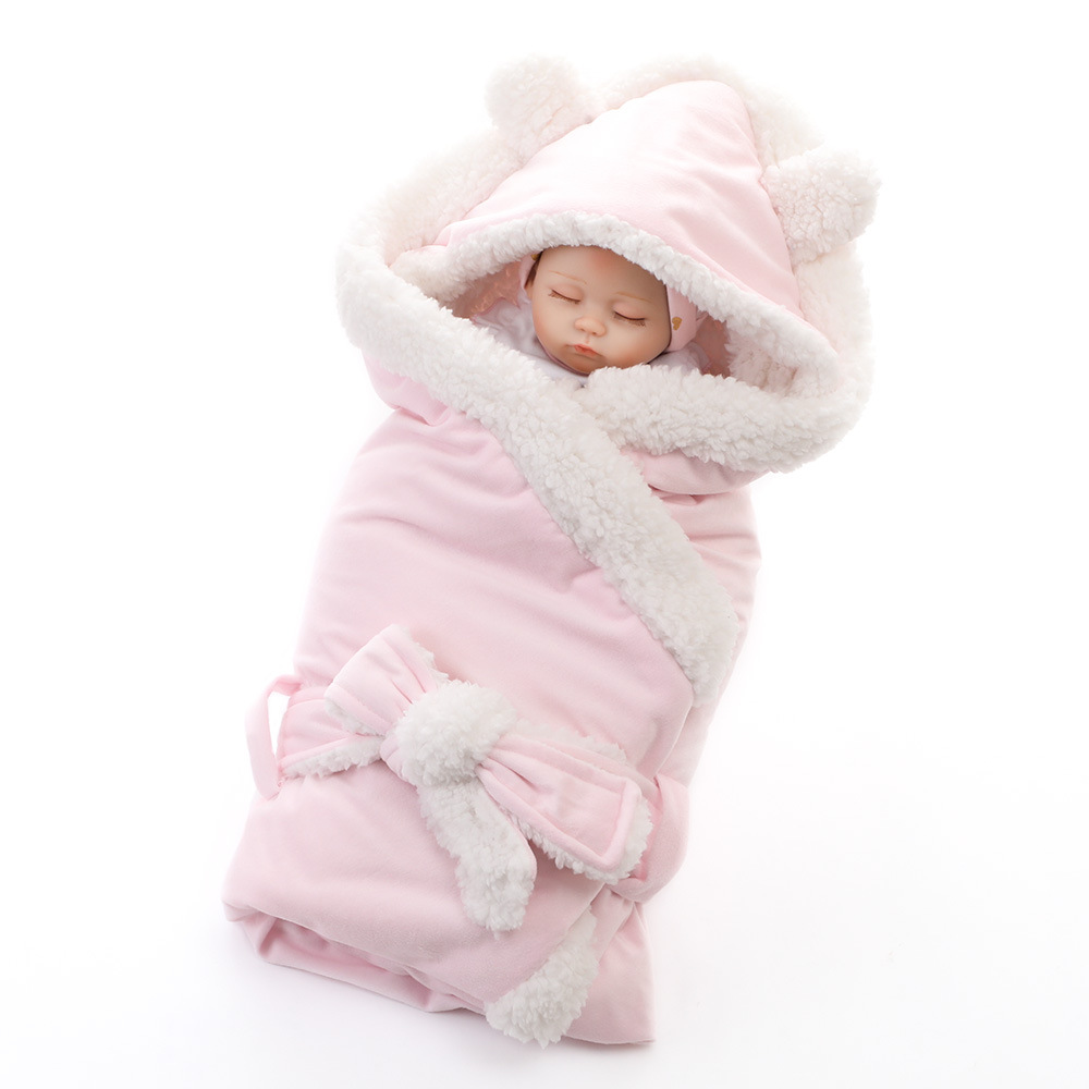 Newbron Baby Fleece Sleepwear Robes Winter Warm Sleepwear Infant Suit Kids Robe Hooded Bathrobe Pajamas