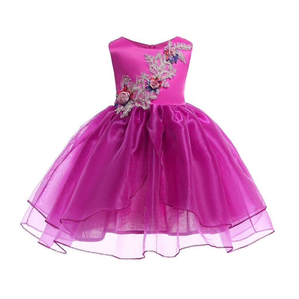 Multicolor nieuwe zomer gestreepte jurk voor meisjes trouwjurk fancy - Kinderkleding - Foto 3