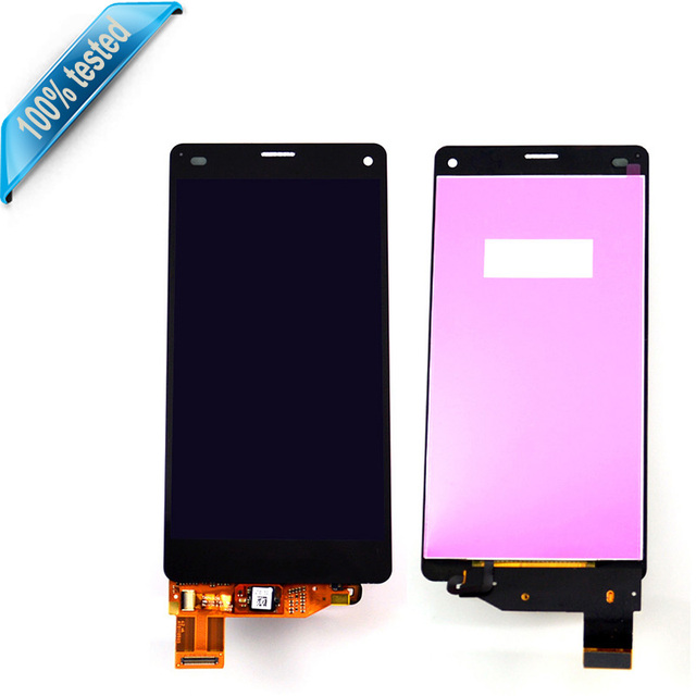 LCD display For Sony Xperia Z3 mini compact D5803 D5833 M55W Touch screen with digitizer glass Assembly white Black