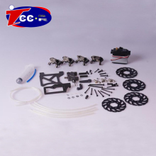 Baja 4 Wheel hydraulic brake kit for1/5 HPI baja 5B Parts KM ROVAN