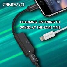 Одежда высшего качества 2 в 1 аудио адаптер для iphone 7 8 X разъем наушников lightning iphone сплиттер адаптер для наушников