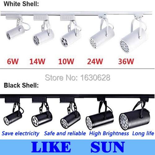 FREE SHIPPING Cool white Led Track Light 24W 120 Beam angle Led Ceiling Spotlight AC 85